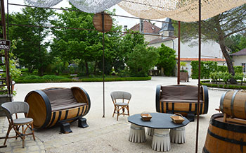 Exhibition cooperage on the terrace