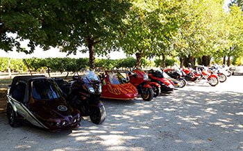 Sortie du Moto Club d'Usseau à L'écomusée du Cognac