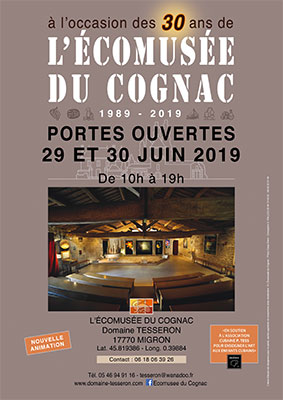 Open doors at the Ecomuseum of Cognac