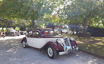 Classic cars at the Ecomuseum of Cognac last September